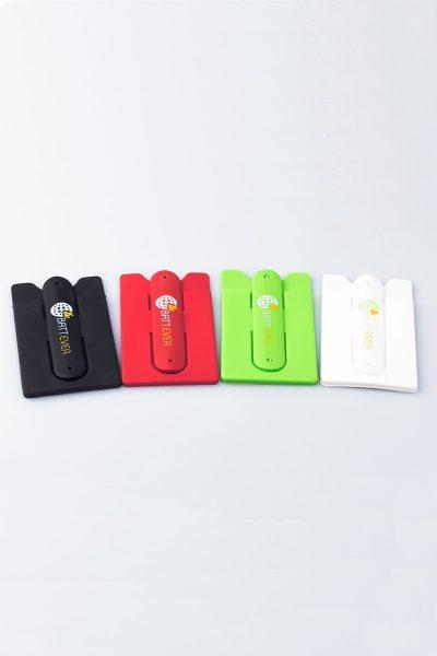Tarjetero con soporte para móviles Battever