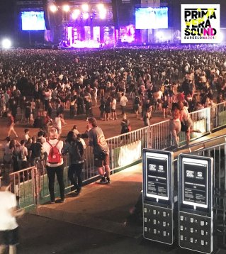 Estaciones de carga de movil para festivales o eventos