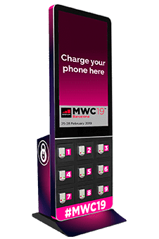 Mobile locker with OOH DOOH screen