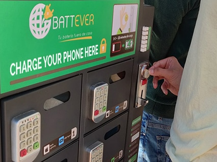 Estación de carga Battever Cell Coin
