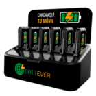 Battever Six-Pack cargador múltiple portátil
