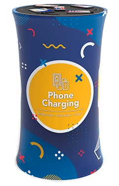 Fixed charging stations for mobiles