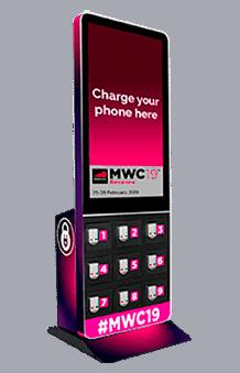 Taquillas para carga móviles con pantalla
