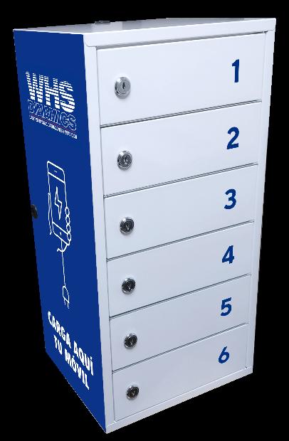 Charging locker for mobile phones