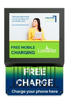 Mobile charging station with OOH DOOH display